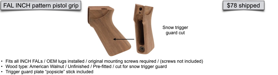 Ironwood Designs Premium Military Rifle Stocks FAL Metric